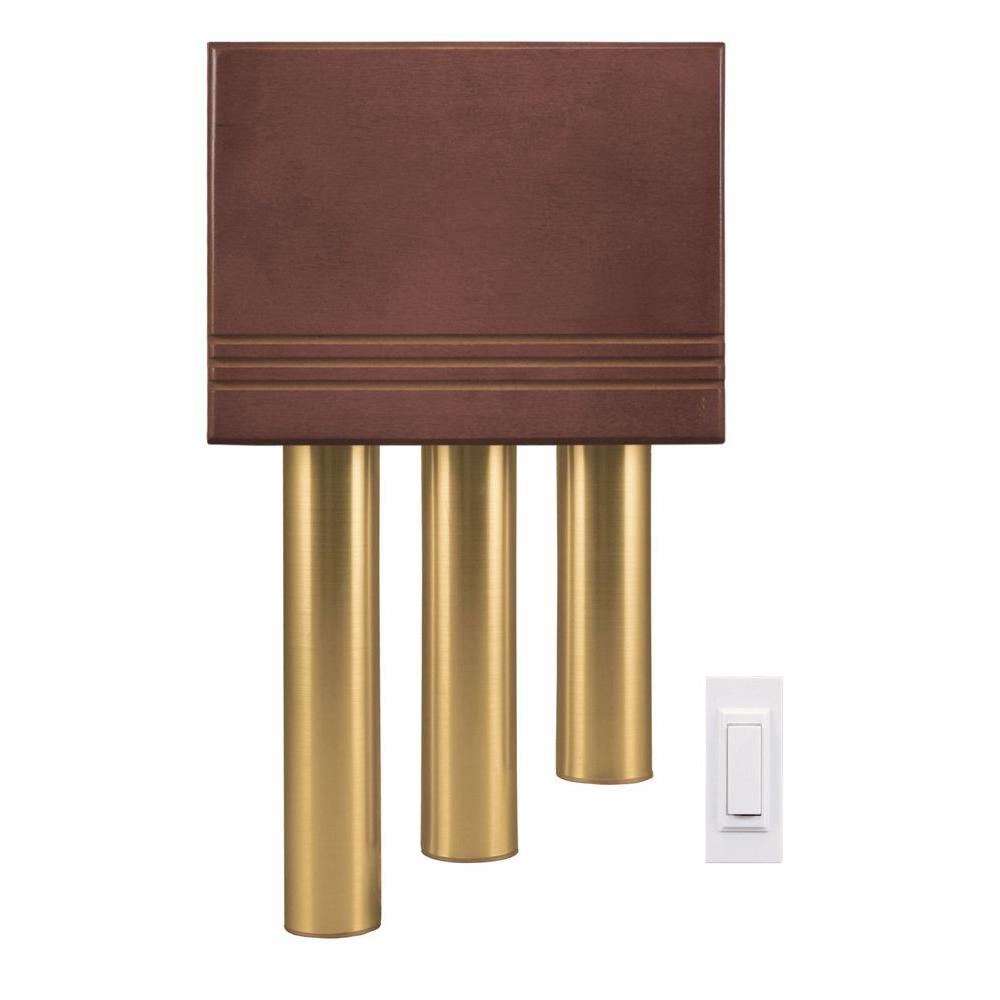 Heath Zenith Wireless Door Chime Kit With Solid Cherry Cover And Brass Finish Tubes-DISCONTINUED