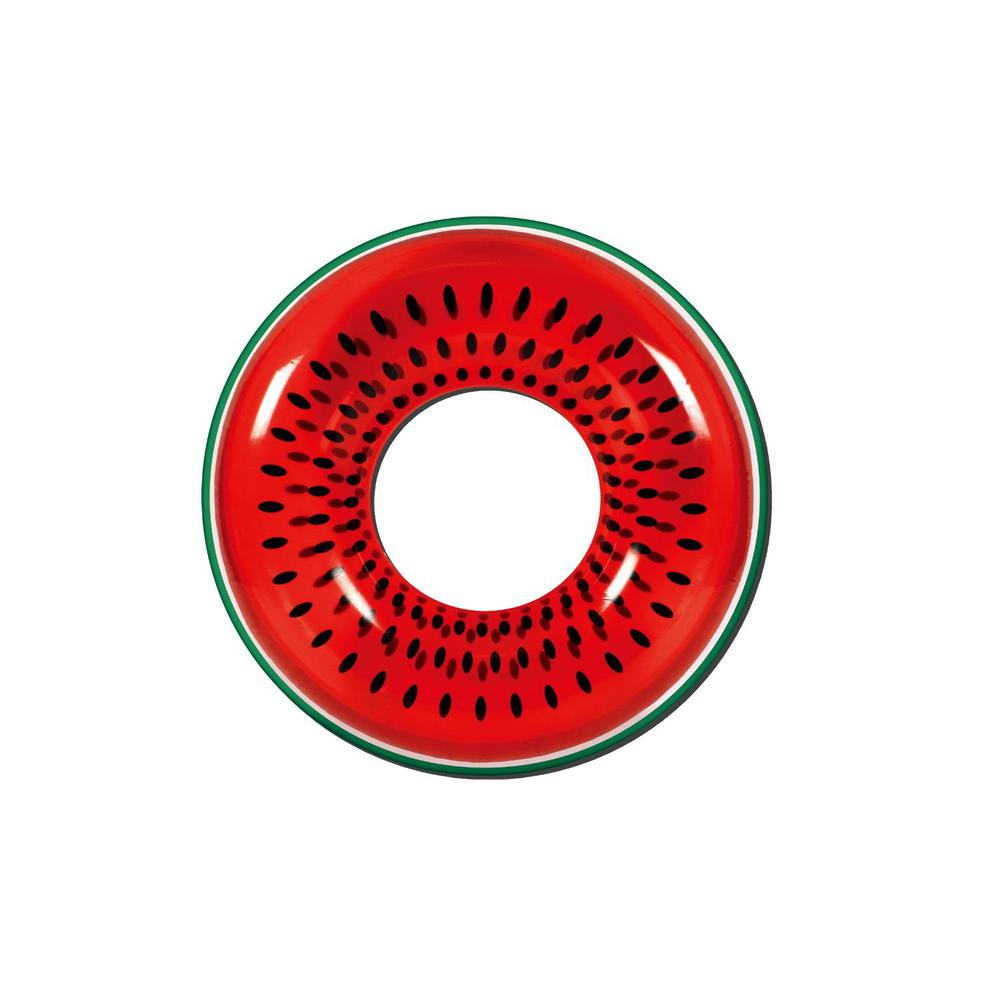 Pool Central 42 in. Red Watermelon Inflatable Inner Tube Float