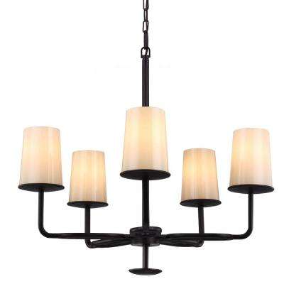 Huntley 26.875 in. W. 5-Light Oil-Rubbed Bronze Chandelier