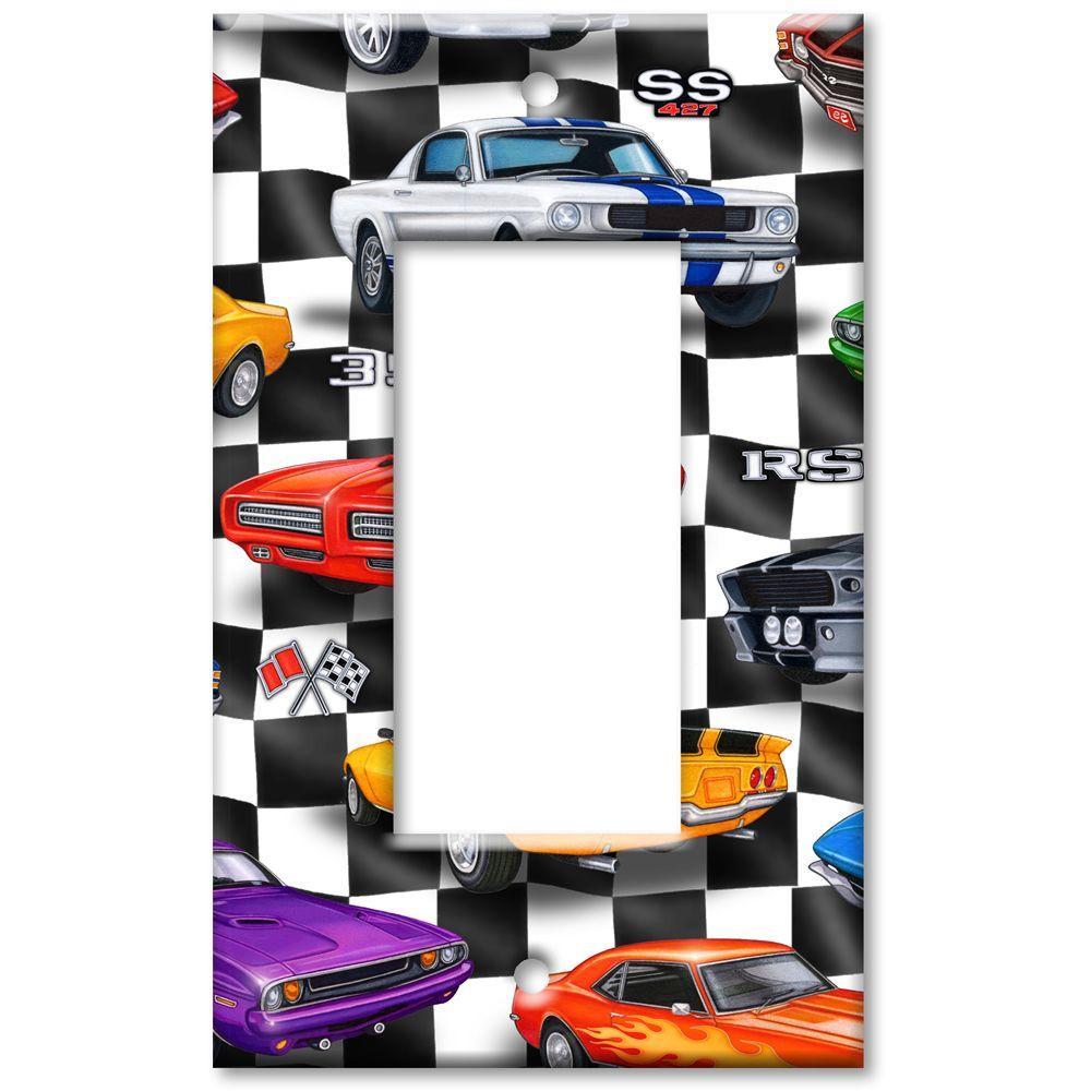 Art Plates Muscle Cars Rocker Wall Plate