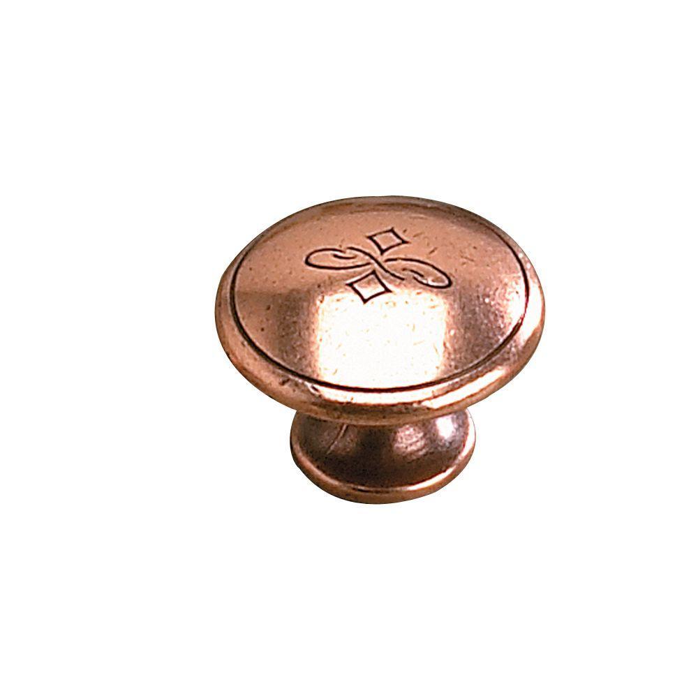 1-1/8 in. Old Copper Cabinet Knob