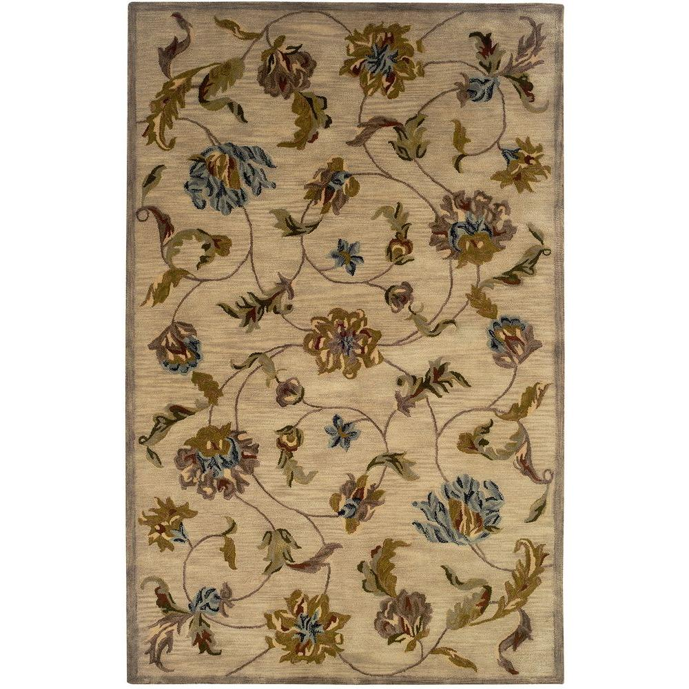 Traditional Beige 5 ft. x 7 ft. 9 in. Plush Indoor