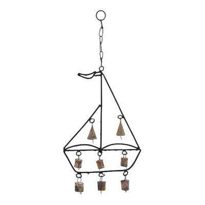 Sail Boat Design 1-Piece Metal Boat Wind Chime