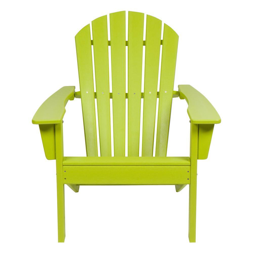 Superbe Shine Co Seaside Lime Green Adirondack Chair