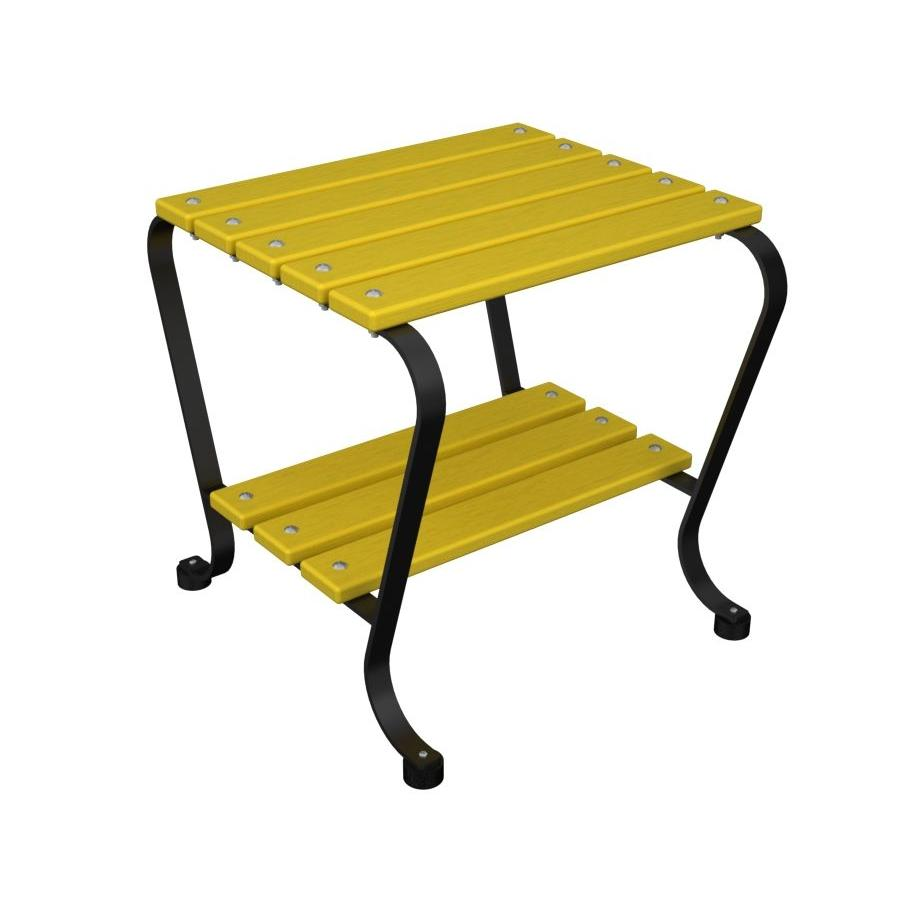 Ivy Terrace 18 in. Black and Lemon Patio Side Table-DISCONTINUED