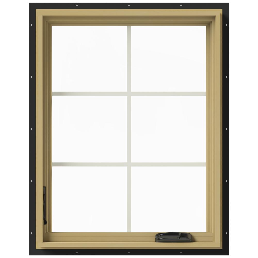 Jeld wen 28 in x 36 in w 2500 left hand casement for Buy jeld wen windows online