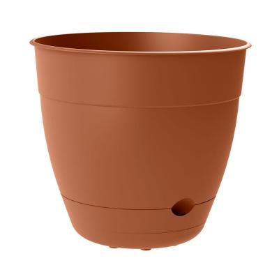 Dayton 16 in. x 14.59 in. Clay Self-Watering Plastic Planter
