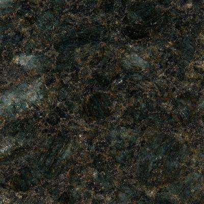 3 in. x 3 in. Granite Countertop Sample in Peacock Green