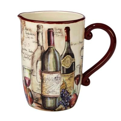 Vintners Journal 3 qt. Multi-Colored Pitcher