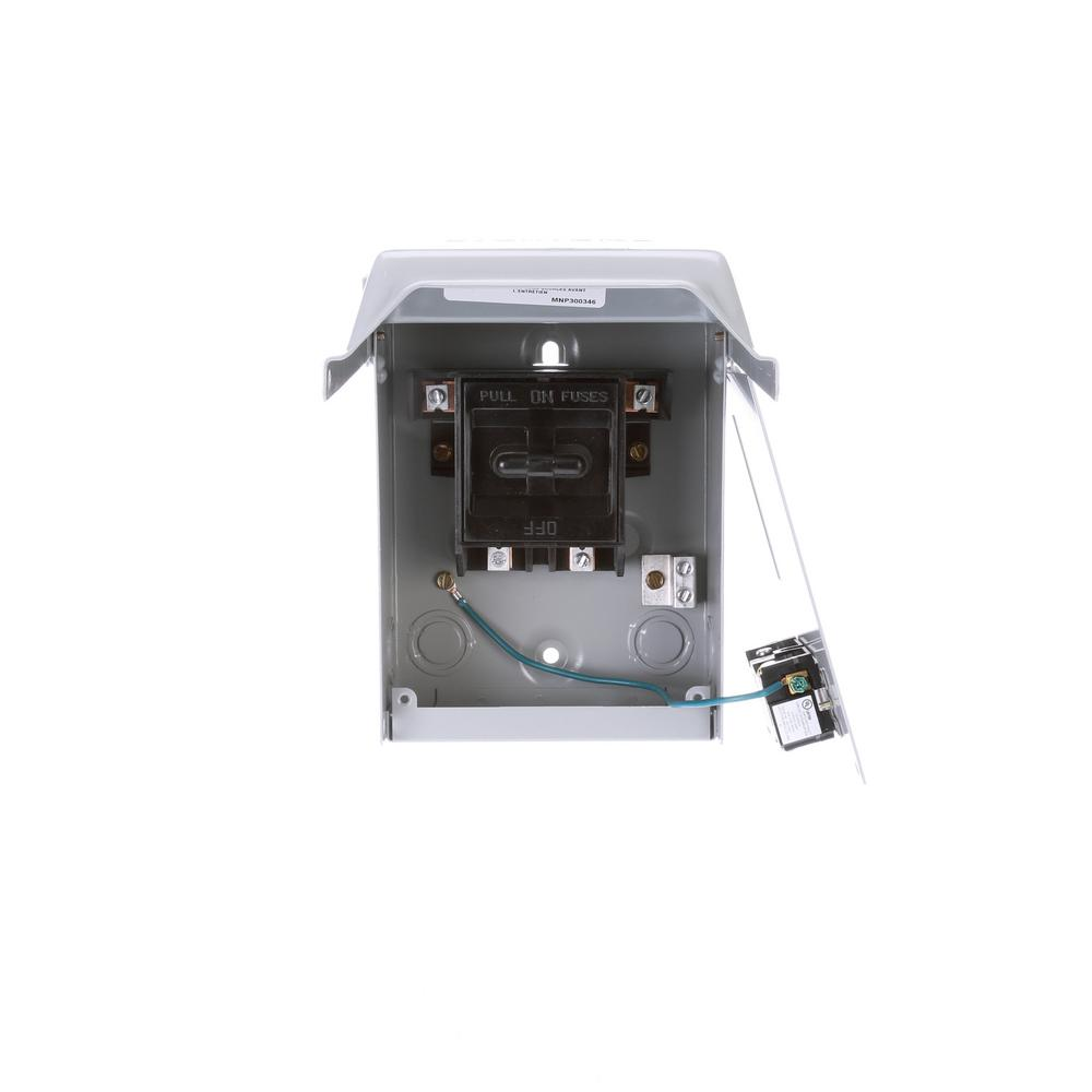 Siemens 30 Amp Fusible Ac Disconnect With 15 Amp Gfci Receptacle In A Steel Enclosure Wf2030gfci The Home Depot