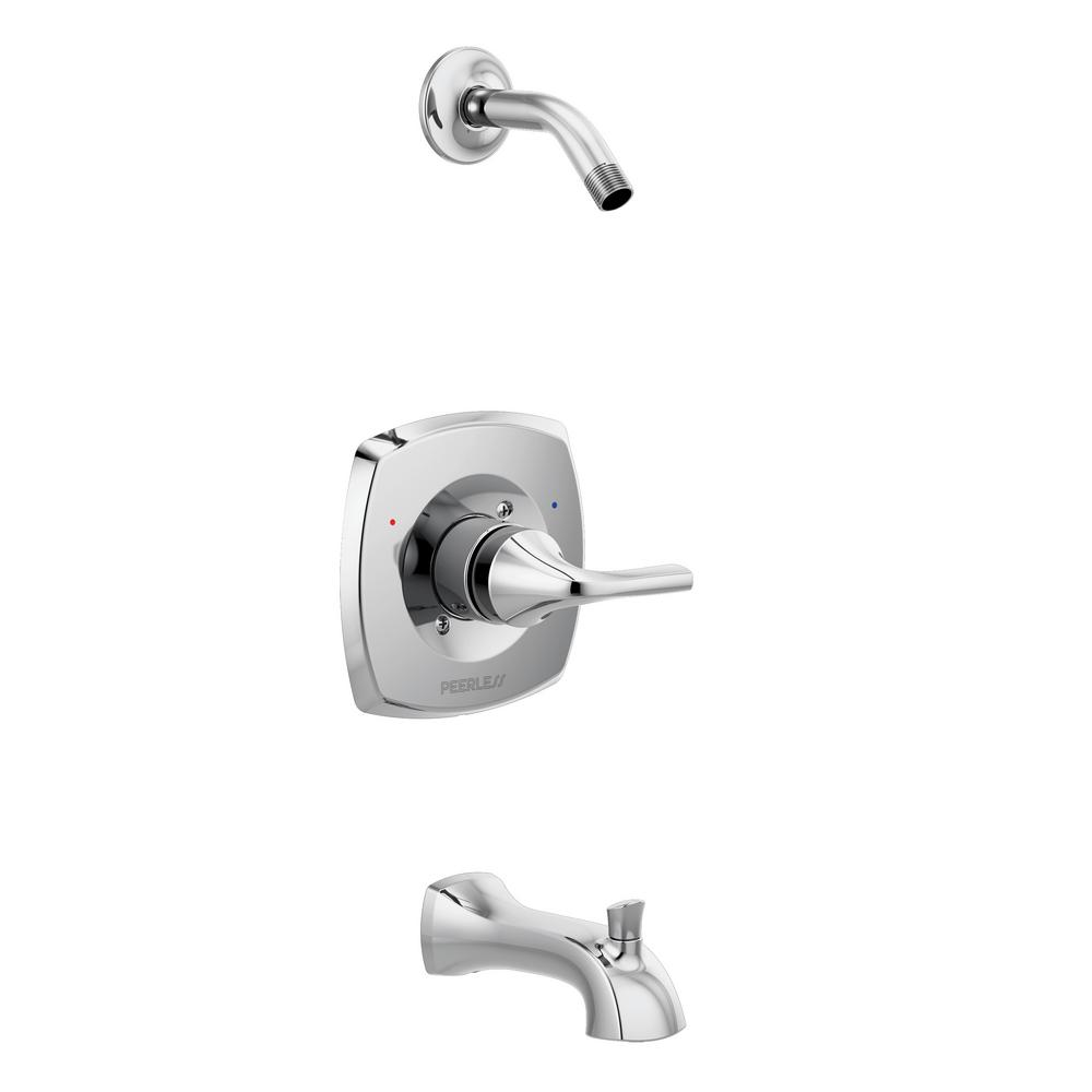 Parkwood 1-Handle Wall-Mount Tub and Shower Faucet Trim Kit in Chrome (Valve and Shower Head Not Included)
