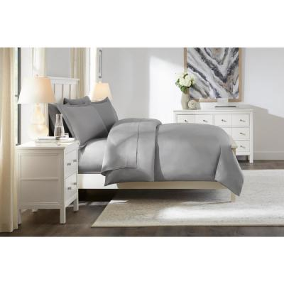 300 Thread Count USA Grown Cotton Wrinkle Resistant Sateen Duvet Cover Set