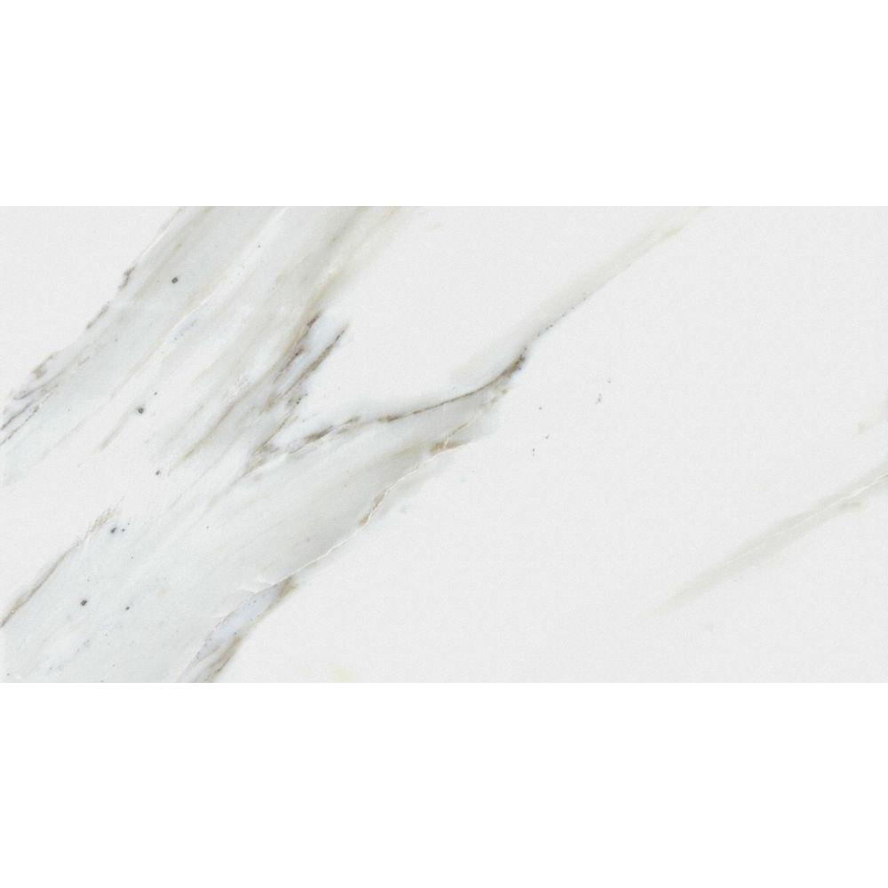 Calacatta Gold 3 in. x 6 in. Polished Marble Floor and