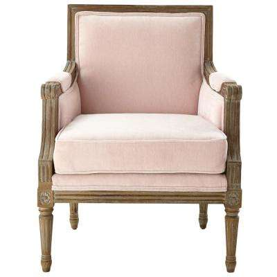Miria Carre Blush Upholstered Accent Chair