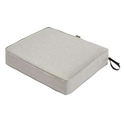 Montlake 25 in. W x 23 in. D x 5 in. Thick Heather Grey Rectangular Outdoor Seat Cushion