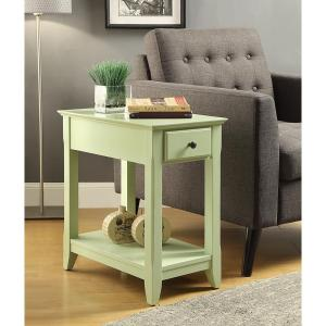 Nice Acme Furniture Bertie Light Green Storage Side Table 82840   The Home Depot