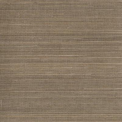 Taisen Brown Grasscloth Wallpaper