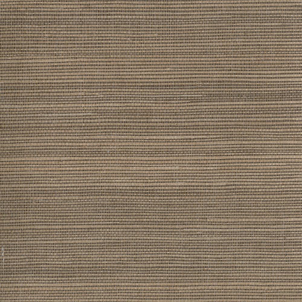 Grasscloth Wallpaper Samples: Kenneth James Taisen Brown Grasscloth Wallpaper Sample
