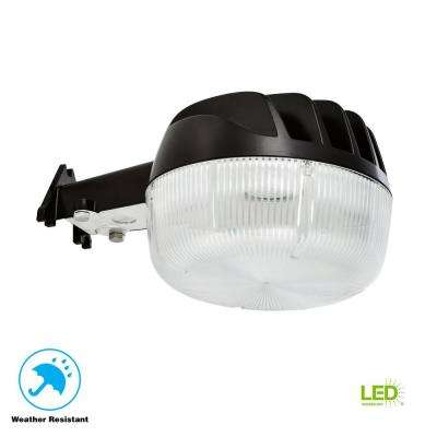 25-Watt Bronze Dusk-to-Dawn Outdoor Integrated LED Area Light Wall/Pole Mountable