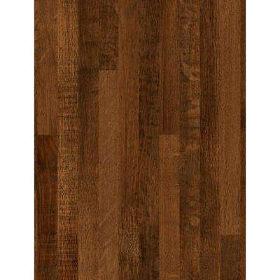 3 in. x 5 in. Laminate Countertop Sample in Old Mill Oak with Premium SoftGrain Finish