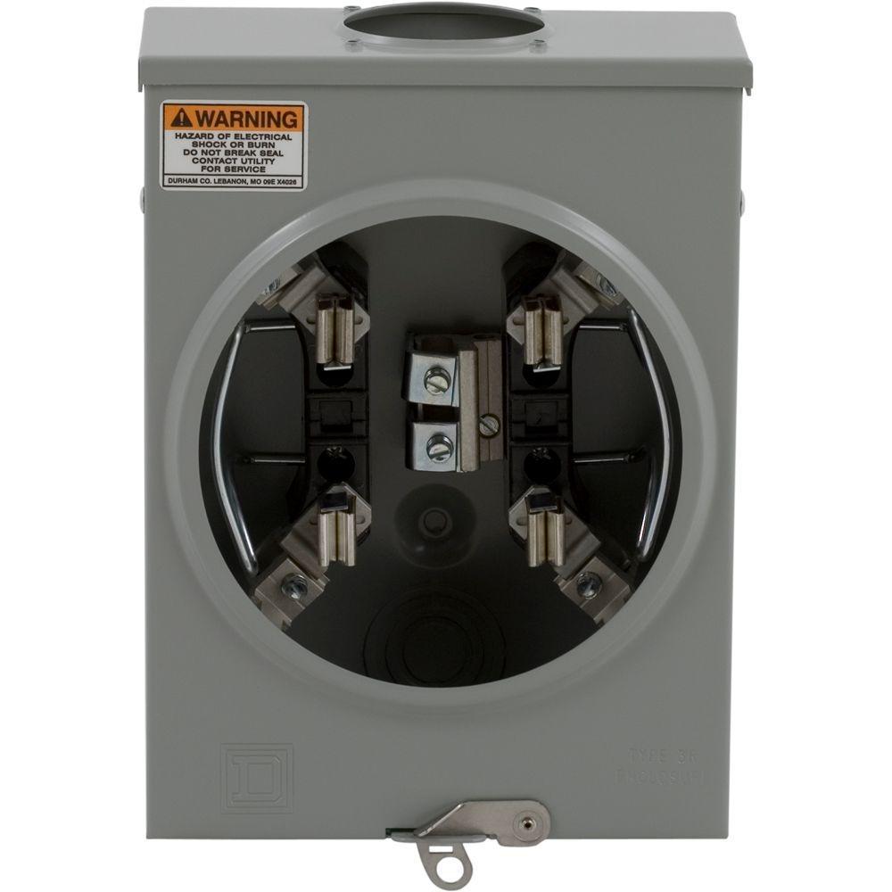 100 Amp Ringless-Horn Bypass Overhead or Underground Meter Socket