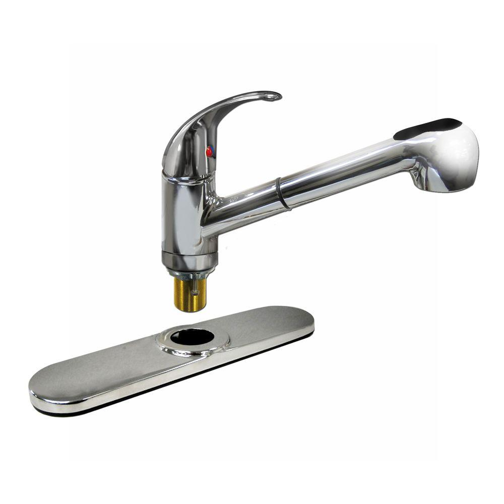 homedepot kitchen faucets dominion single handle pull out sprayer kitchen faucet in 12393