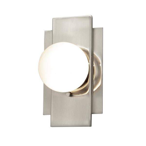 Fusion Luna ADA 3.5 in. Brushed Nickel LED Wall Sconce with Clear Glass Shade