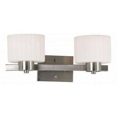 Legacy 2-Light Brushed Steel Wall Vanity Light