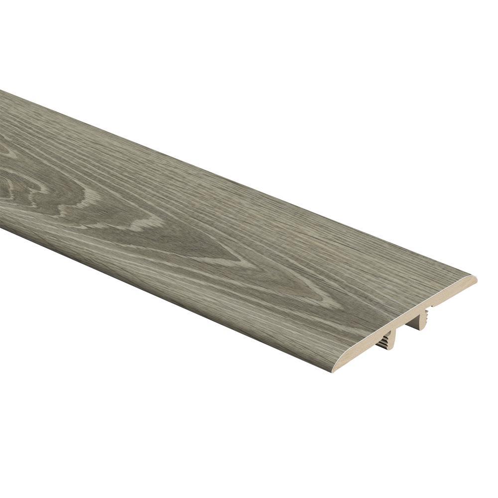 Sterling Oak/Gray Birch Wood 1/3 in. Thick x 1-3/4 in. Wide x 72 in. Length Vinyl T-Molding