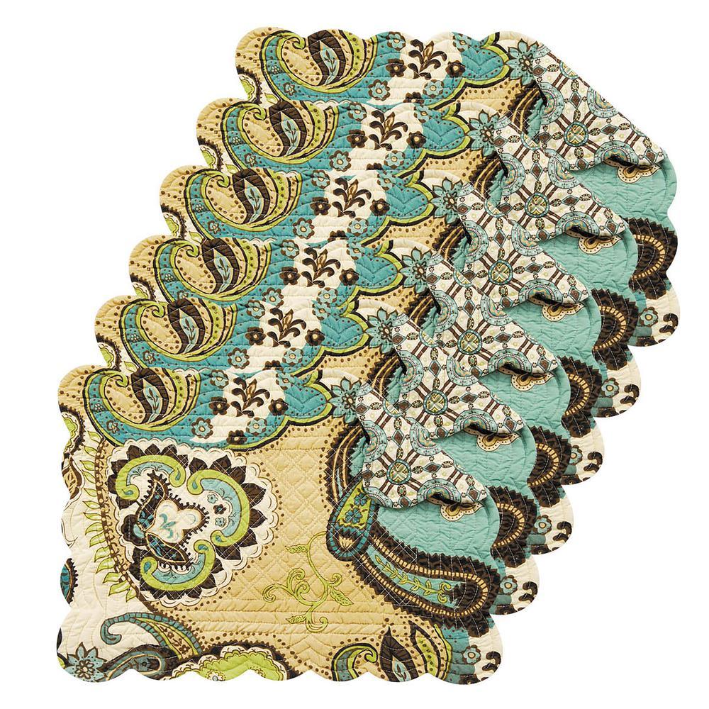 Kasbah Green Placemat (Set of 6)