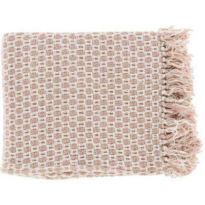 Victor Beige Cotton Throw