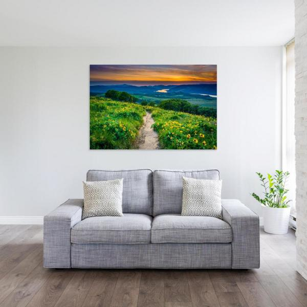 12 In X 18 In Waterfall In The Columbia River Gorge Of Washington Printed Canvas Wall Art Lu 02 Tw 12 The Home Depot