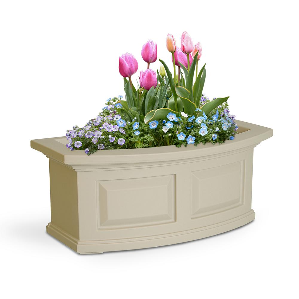 2 ft. Nantucket Clay Plastic Window Box