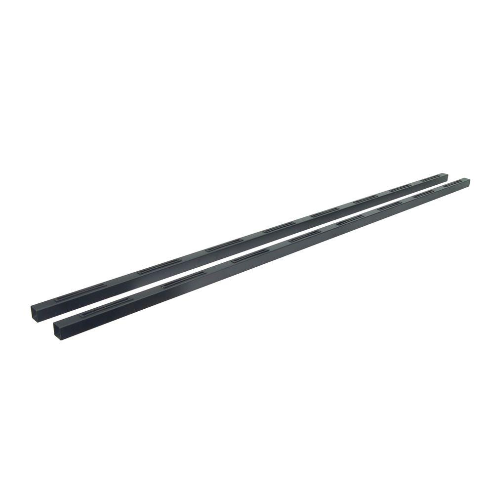 Fe26 6 ft. Black Sand Steel Level Hand Rail (2-Pack)