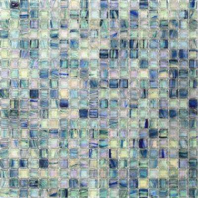Breeze Blue Ocean Glass Mosaic Wall Tile - 3 in. x 6 in. Tile Sample