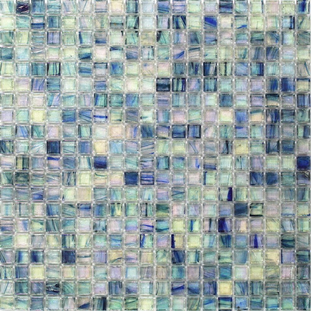 Splashback Tile Breeze Blue Ocean Gl Mosaic Wall 3 In X 6