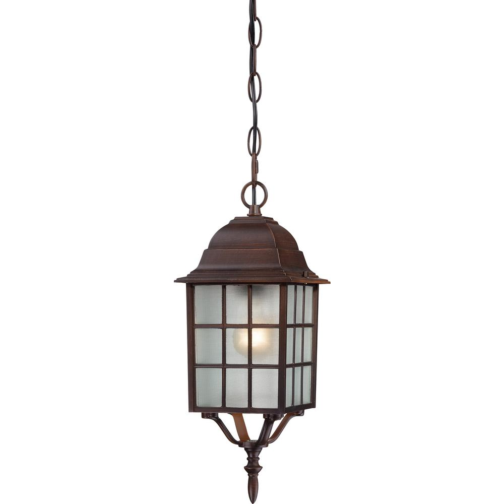 Filament Design Phil Rustic Bronze 1 Light Outdoor Hanging Lantern
