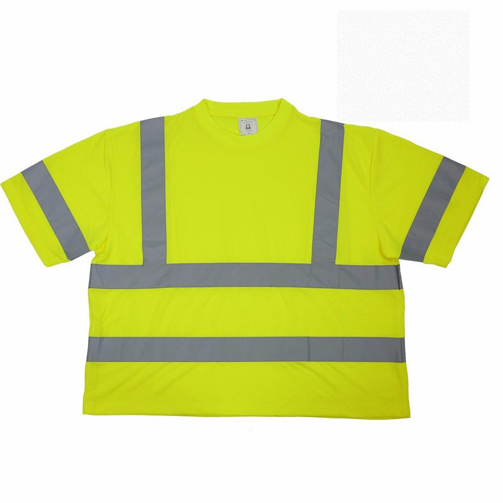 Builder's Large Short Sleeve Yellow Mesh High Visibility Reflective Class 2
