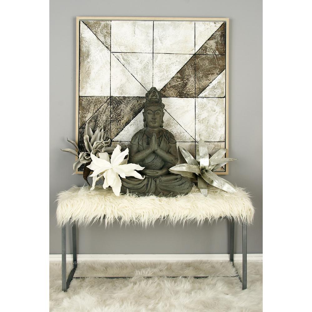 Awe Inspiring White Faux Fur Rectangular Bench Uwap Interior Chair Design Uwaporg