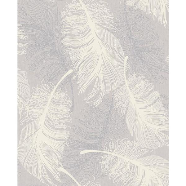 Coloroll 8 in. x 10 in. Journey Lavender Feather Sample