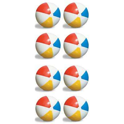 Inflatable 36 in. Classic Rainbow Giant Beach Balls (8-Pack)