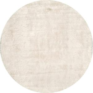 Cloud Shag White 5 Ft. X 5 Ft. Round Area Rug
