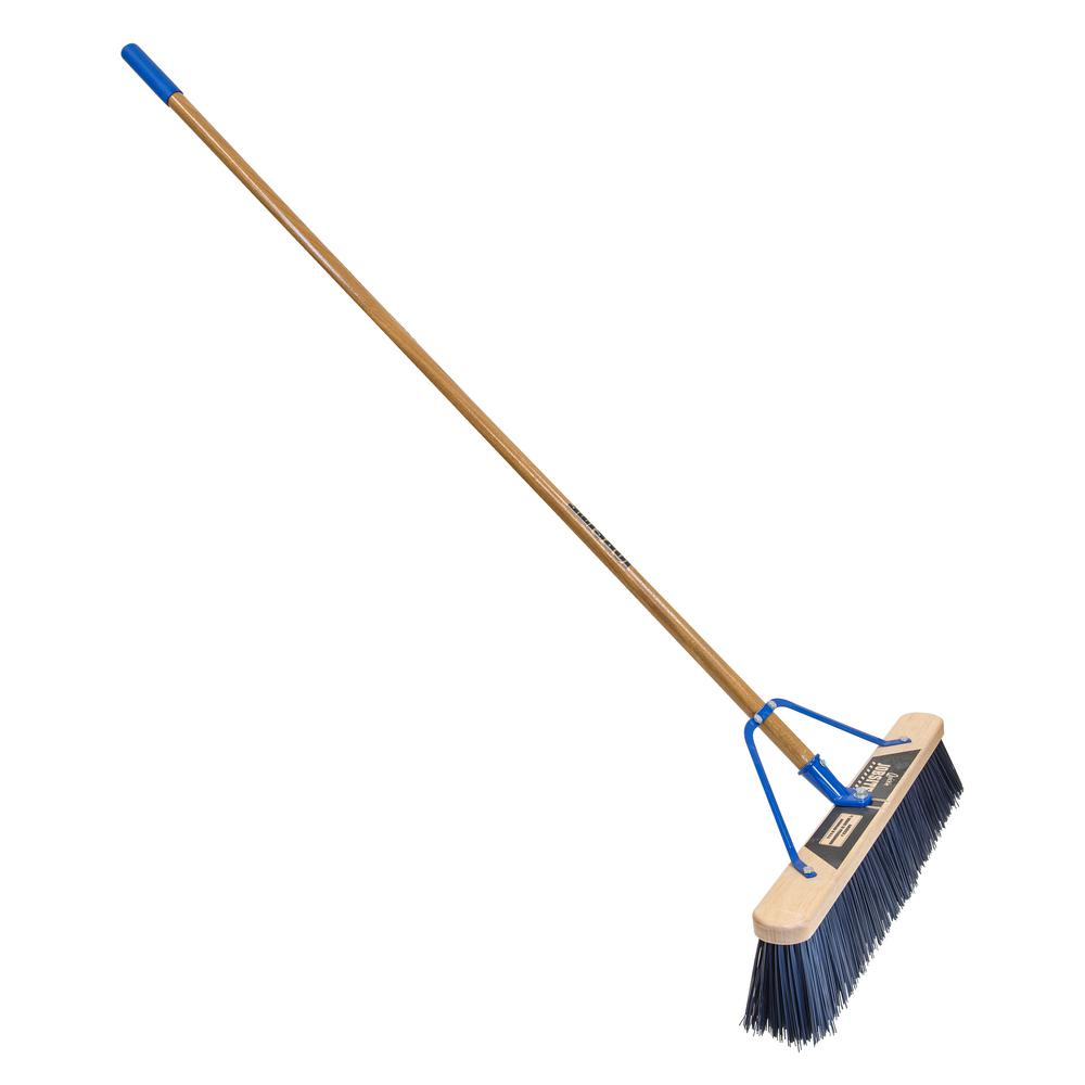 Quickie Job Site 24 in. Super Stiff Poly Pushbroom-Set Up (2-Pack)
