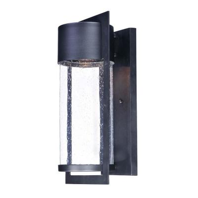 Focus 1-Light Black Integrated LED Outdoor Wall Lantern Sconce