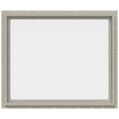 35.5 in. x 29.5 in. V-4500 Series Fixed Picture Vinyl Window - Tan