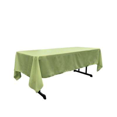 Polyester Poplin 60 in. x 120 in. Sage Rectangular Tablecloth