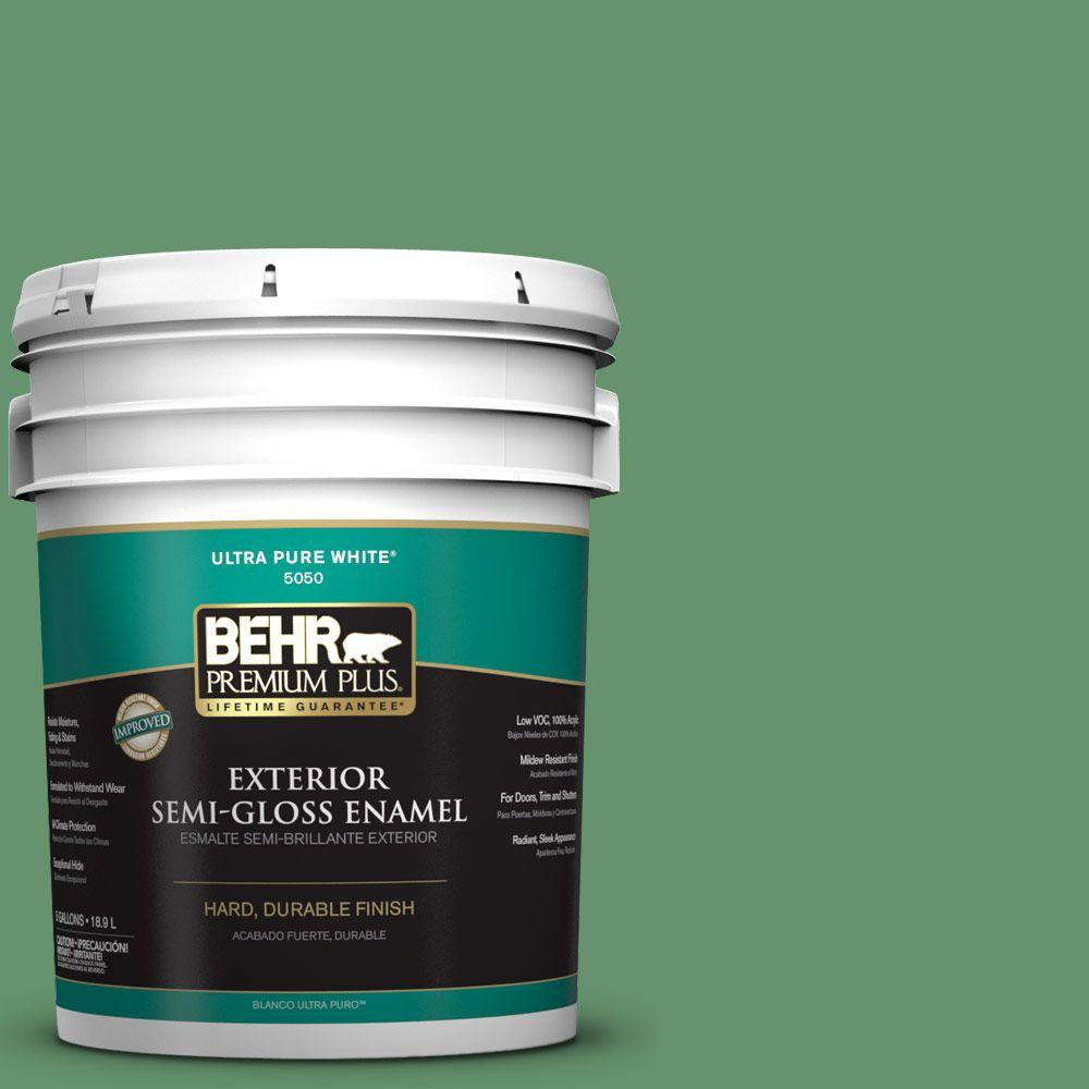 5-gal. #M410-6 Turtle Creek Semi-Gloss Enamel Exterior Paint