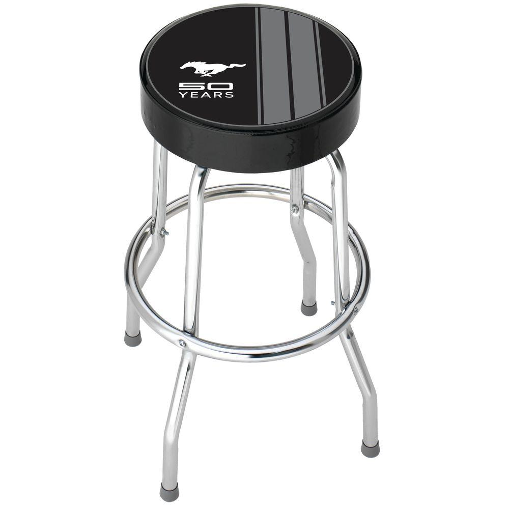 Ford Mustang 50th Anniversary Garage Stool 004787r01 The