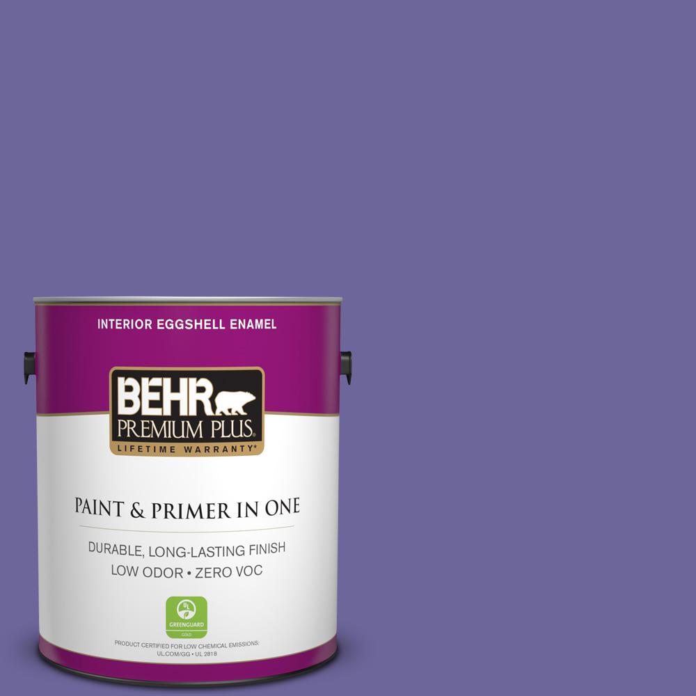 BEHR Premium Plus 1 gal. #630B-7 Pandora Eggshell Enamel Zero VOC Interior Paint and Primer in One