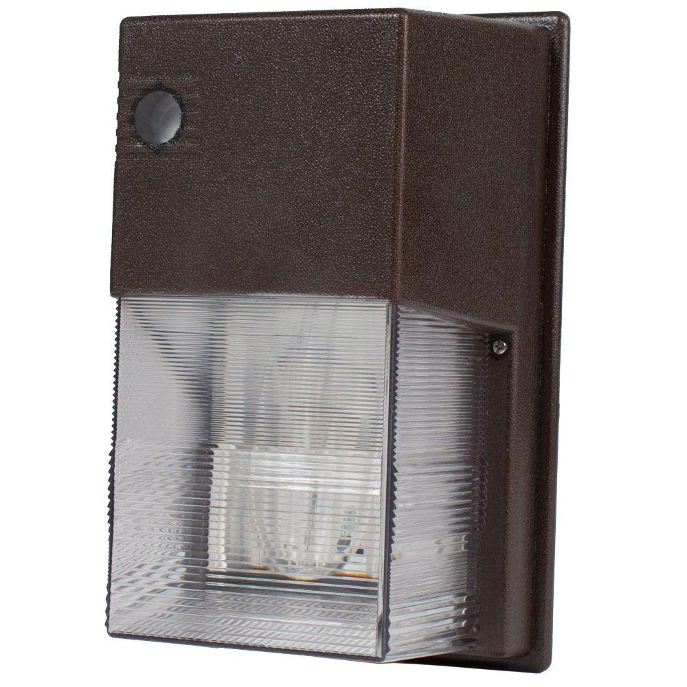 WMS Series 100-Watt Dark Bronze Outdoor HID Wall Pack